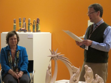 Nancy Parezo, recipient of the CMA Lifetime Achievement Award. with Karl Hoerig at the Loyola University Museum of Art. Photograph by Cara Krmpotich.