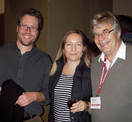 Morgan Perkins, Gwyn Isaac, and Howard Morphy at the McCord Museum reception. Photo by Marge Bruchac.