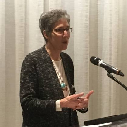 Ruth Phillips Winning the CMA Distinguished Service Award