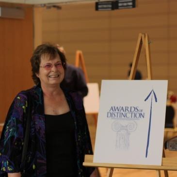 Nancy Parezo Winning the CMA Distinguished Service Award